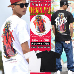 DOP ディーオーピー tシャツ 半袖Tシャツ メンズ 大きいサイズ マリア様 女神 b系 hiphop ヒップホップ ファッション DPTT072