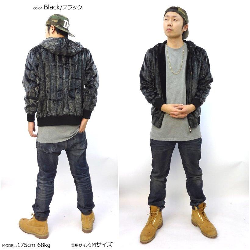 Mサイズ TODOLL トゥドール ファージャケット B系 ストリート系 ファッション メンズ